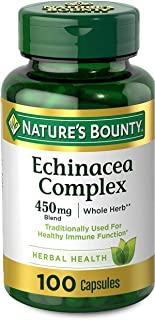 Echinacea Complex by Nature's Bounty, Herbal Supplement, Supports immune Health, 450 mg, 100 Capsules