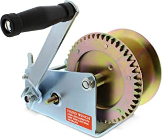 ABN Hand Winch Crank Gear Winch, Heavy Duty, up to 2500 lbs for Trailer, Boat or ATV