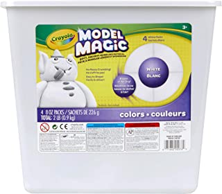 Crayola; Model Magic; White Modelling Compound; Art Tools; 900g Resealable Bucket; Perfect For Butter Slime Supplies Kit, Mess Free