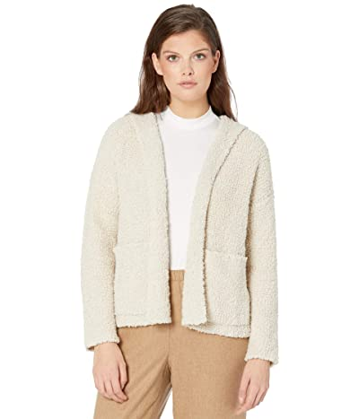 Eileen Fisher Hooded Cardigan (Maple Oat) Women