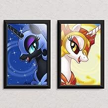My Little Pony - Nightmare Moon and Daybreaker - Original Art Poster Print Set