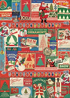 Cavallini & Co. Vintage Christmas Decorative Decoupage Poster Wrapping Paper Sheet