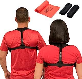 JLR Industry Posture Corrector For Women, Men & Kids – Back Pain Posture Straightener Support - Adjustable Comfortable Back Brace Supporter & Underarm Pads & Resistance Band – Correctors Under Clothes