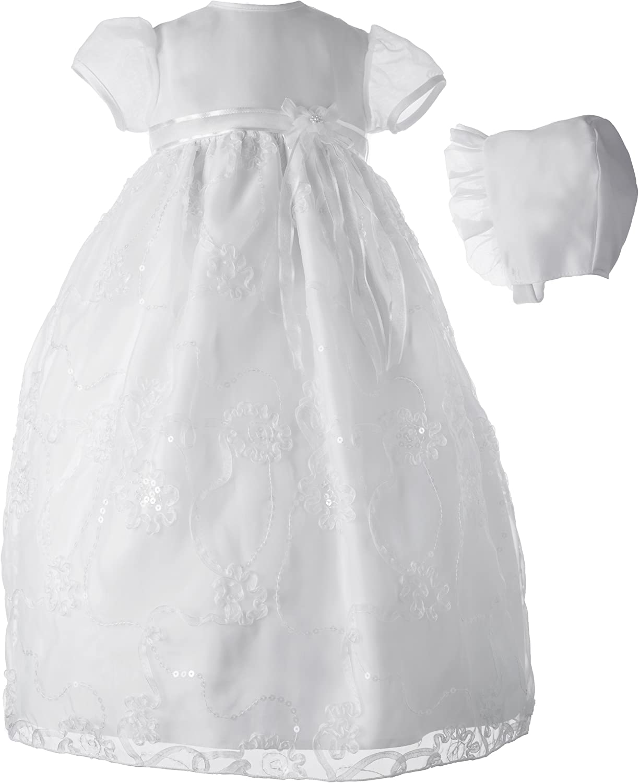Lauren Madison baby girl Christening Baptism Newborn Dress Gown