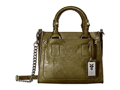 Frye Demi Mini Satchel (Olive Antique Soft Vintage) Satchel Handbags