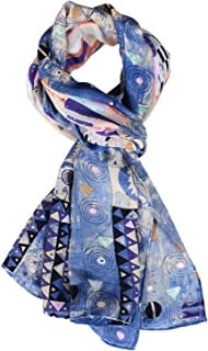 Salutto Women 100% Silk Scarves Van Gogh Painted Scarf