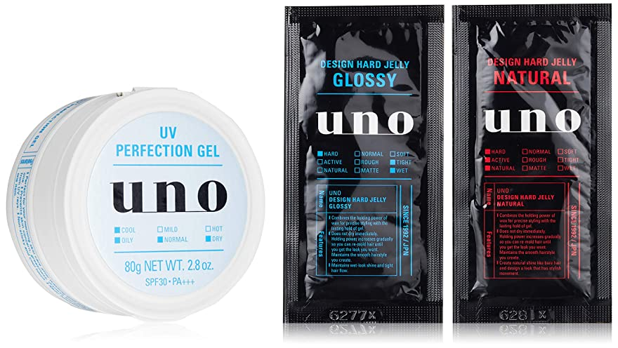 積極的に終点計り知れない【Amazon.co.jp限定】ウーノ UVパーフェクションジェル メンズフェースケアSPF30/PA+++ 80g (医薬部外品) おまけ付きセット