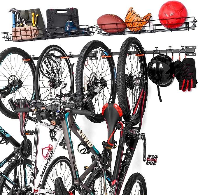 16 opinioni per Ikkle Porta Bici a Parete Con Cestino portaoggetti multiuso | Rastrelliera