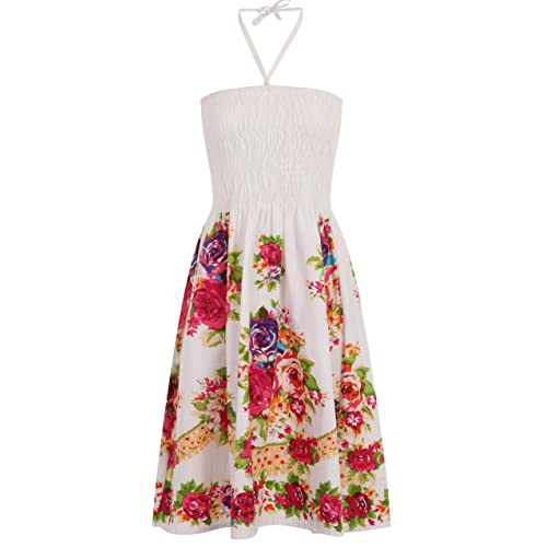 4eda97b70d Stunning Ladies 100% Cotton Print 3 in 1 Halter Neck or Strapless Summer  Dress