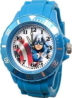 Marvel Captain America Quartz Watch .Limited Edition.Large Analog Dial. 9L Rubber Band.