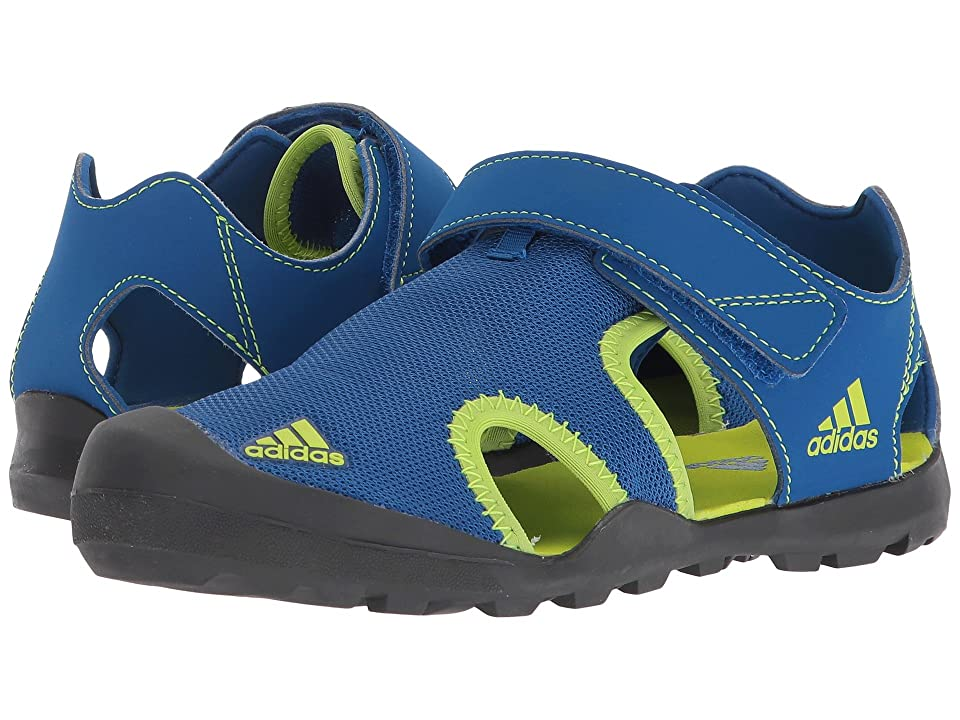 Image of adidas Outdoor Kids Captain Toey (Toddler/Little Kid/Big Kid) (Blue Beauty/Solar Slime/Carbon) Boys Shoes
