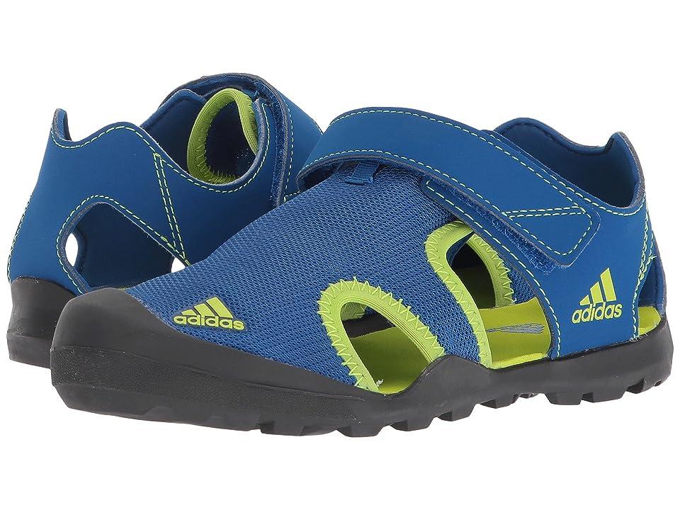 adidas Outdoor Kids Captain Toey (Toddler/Little Kid/Big Kid) (Blue Beauty/Solar Slime/Carbon) Boys Shoes