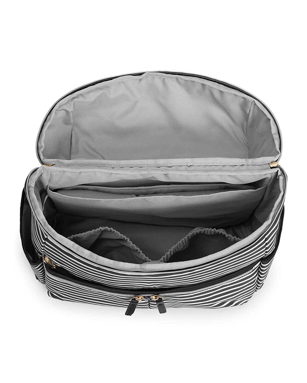 Skip Hop Diaper Bag Backpack: Flatiron, Black/White