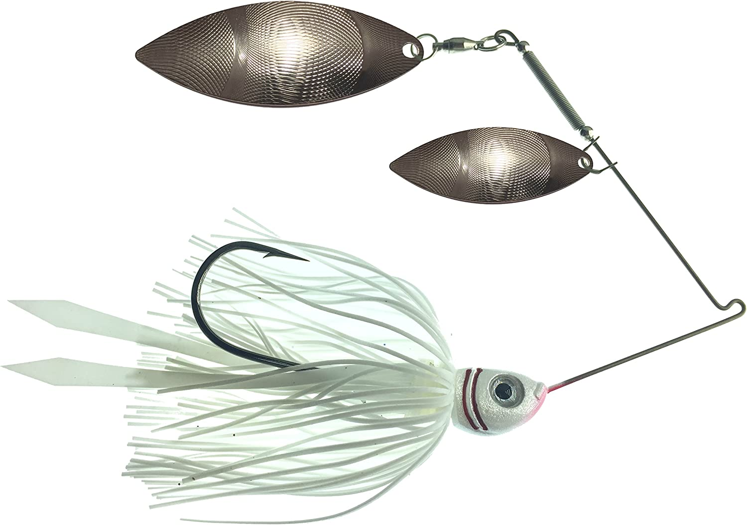 White Dedication Shad Spinnerbait - Double Spinner Ranking TOP9 Bait Willow Fishing Lure