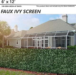 BOUYA The Patio Shop6' x 12' Artificial Faux Ivy Trellis Fence Screen Privacy Screen Wal Screen for Outdoor/Indoor Backdrop Garden Backyard Home Decorations