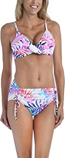 24th & Ocean Women's Surplice Bra Bikini Swimsuit Top