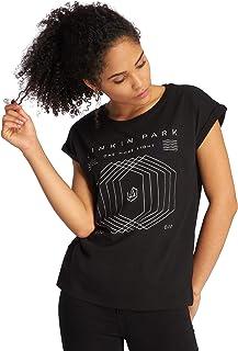MERCHCODE Linkin Park Damen T-Shirt One More Light Tee mit Band-Logo-Print