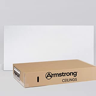 Armstrong Ceiling Tiles; 2x4 Ceiling Tiles – HUMIGUARD Plus Acoustic Ceilings for Suspended Ceiling Grid; Drop Ceiling Tiles Direct from the Manufacturer; ULTIMA Item 1913 – 6 pcs White Lay-in