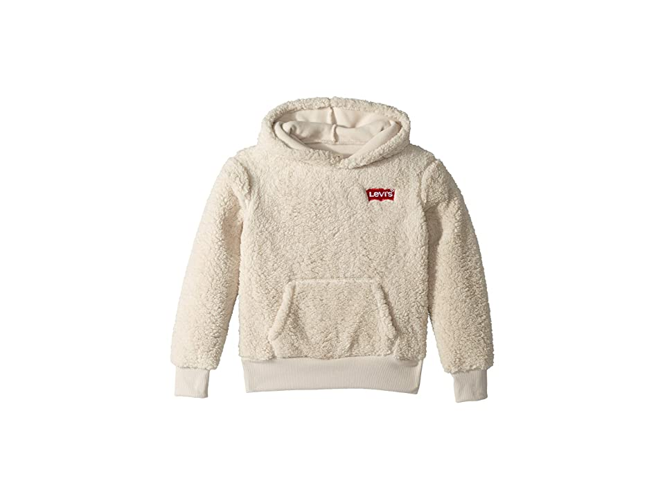 Image of Levi's(r) Kids Sherpa Hoodie (Big Kids) (Moonbeam) Girl's Sweatshirt
