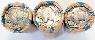1913-1938 (3) Buffalo Nickel Rolls (120 Coins) Dateless