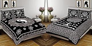 Fecom Combo Pattern 144 TC 90 inch x 108 inch OR 228 cm x 274 cm 100% Cotton Jaipuri Rajasthani Traditional Attractive Qua...