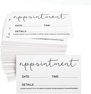 RXBC2011 Appointment Reminder Cards (Pack of 100) for Beauty Makeup Hair Nail Salon Barber Shop Restaurants Therapist Pack of 100