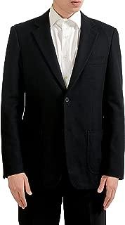 Men's Black Wool Two Button Blazer Sport Coat Size M / 40