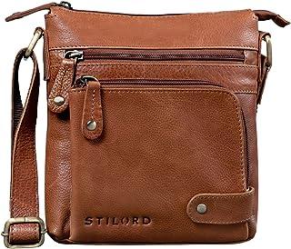 "STILORD Cameron"" Kleine Leder Umhängetasche Vintage Messenger Bag Ledertasche DIN A5 8,4 Zoll Tablettasche Handtasche Cross Body Bag Retro Ledertasche"
