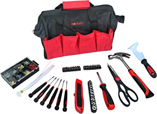 General Household Tool Kit (69 Pieces) – Home Repairing Tool Set with Storage Bag – Includes Screwdrivers, Nuts & Bolts, Hammer, Blade & Scissors for furniture assembling, car repairs