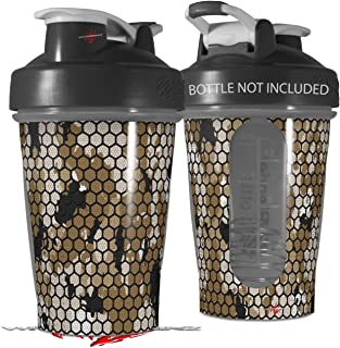Decal Style Skin Wrap works with Blender Bottle 20oz HEX Mesh Camo 01 Tan (BOTTLE NOT INCLUDED)