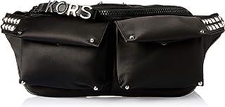 Michael Kors 30S9SOVN9C-001 Olivia Large Studded Satin Belt Bag, Black