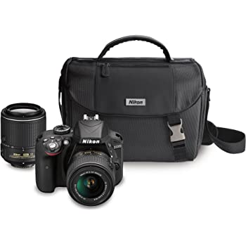 Nikon D3300 DX-format DSLR Kit w/ 18-55mm DX VR II & 55-200mm DX VR II Zoom Lenses and Case (Black)