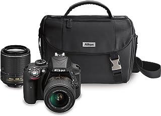 Nikon D3300 DX-format DSLR Kit w/ 18-55mm DX VR II & 55-200mm DX VR II Zoom Lenses and Case (Black)