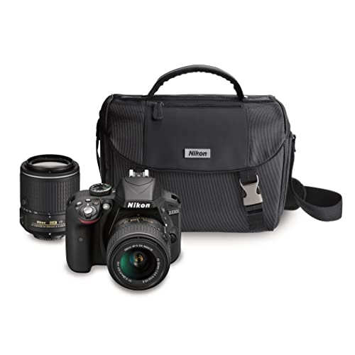 Nikon DX-format 24.7 MP DSLR Camera with Lens and Case and with 3x Optical Zoom (Black)