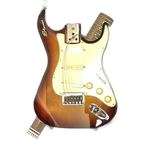 Stewart Electric Travel Guitar - Stow-Away (Tobacco Sunburst)