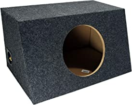 "Car Audio Single 10"" Sealed Subwoofer Salnted Hatchback Stereo Sub Box Enclosure"