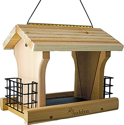 Woodlink NARANCH3 12-Inch Audubon Cedar Ranch Wild Bird Feeder, Large