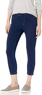 Women's Classic Denim Capri Leggings With Pockets