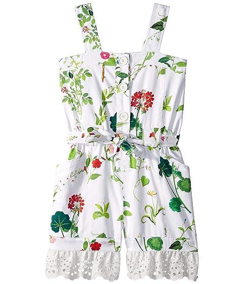 Oscar de la Renta Childrenswear Floral Romper (Toddler/Little Kids/Big Kids)