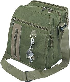 TULMAN Cotton Sling cross body Travel messenger one side shoulder bag for men & women - Olive