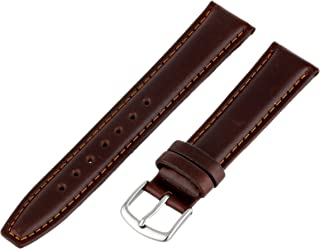 Hadley-Roma Men's MSM881RB-180 18 mm Brown Oil-Tan Leather Watch Strap