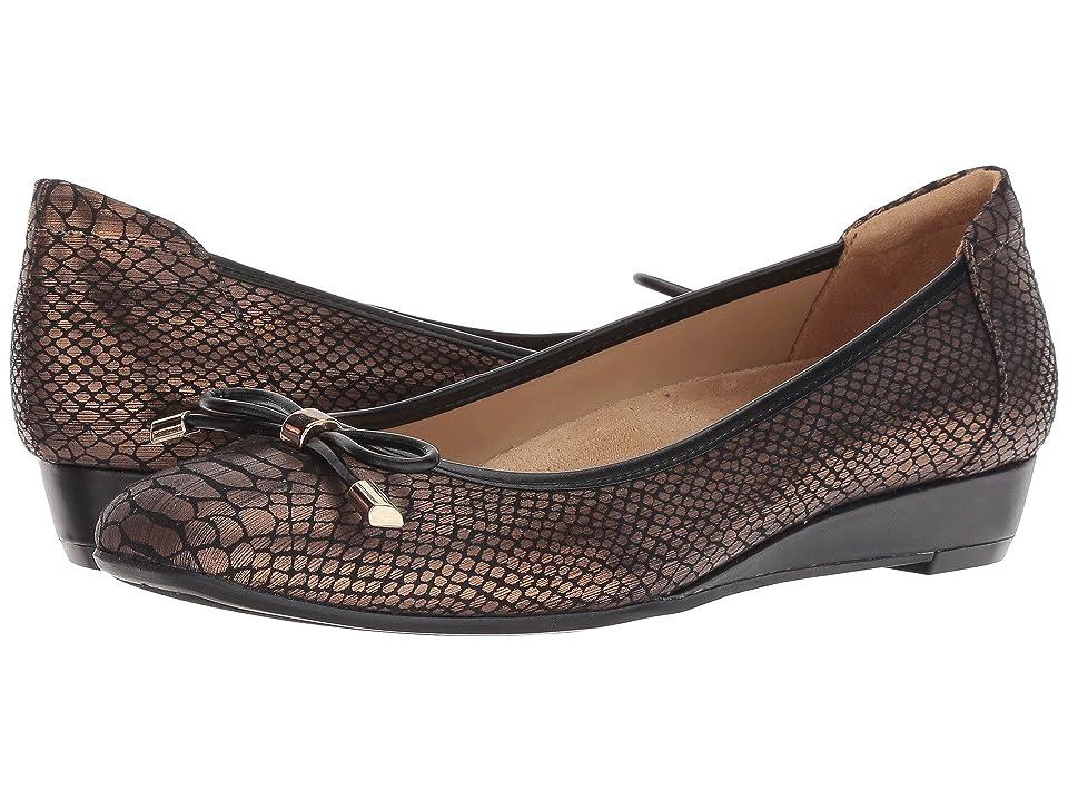 Naturalizer Corin (Bronze/Black Snake Print Fabric) Women