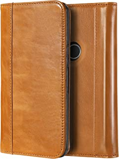 ProCase Google Pixel 2 Genuine Leather Case, Vintage Wallet Folding Flip Case with Kickstand and Multiple Card Slots Magnetic Closure Protective Cover for Google Pixel 2 (2017 Release) -Brown