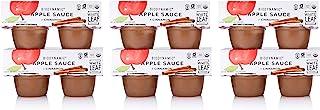 White Leaf Provisions' — 4oz. 24 Cups of Biodynamic Organic Apple+Ceylon Cinnamon Sauce Pack —Applesauce Unsweetened — Org...