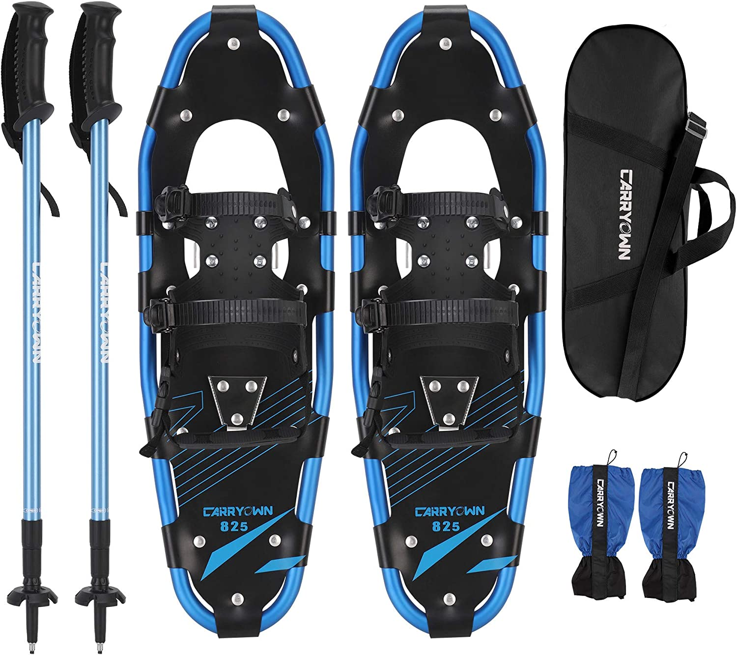 Carryown 4-in-1 Xtreme Lightweight Terrain Snowshoes for Adults