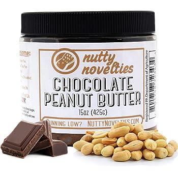 Nutty Novelties Chocolate Peanut Butter - High Protein, Healthy Peanut Butter - All-Natural Peanut Butter Free of Cholesterol, Preservatives & Salt - 100% Vegan Peanut Butter - 15 Ounces