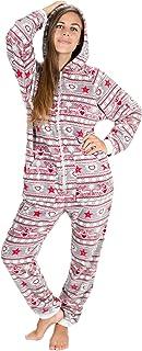 Kajamaz Natale Pigiama Intero con Piedi per Adulti in Pile