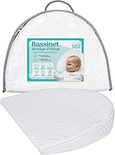Bassinet Wedge Pillow for Acid Reflux, Colic & Congestion Relief | Cotton & Waterproof Covers | Newborn and Infant Sleep S...