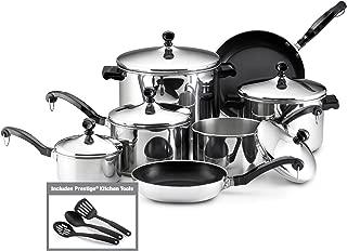 Farberware Classic Stainless Steel 15-Piece Cookware Set (Renewed)