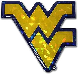 Elektroplate WV West Virginia Color NCAA Reflective 3D Decal Domed Sticker Emblem